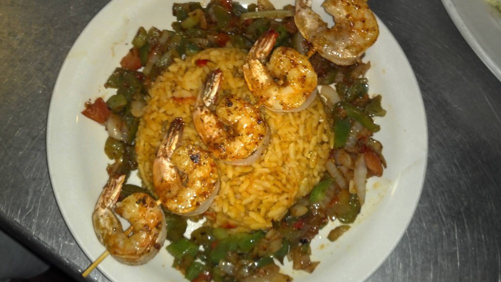 Shrimp Kabob With Rice Pilaf